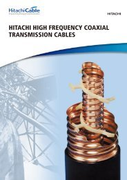 HITACHI HIGH FREQUENCY COAXIAL TRANSMISSION CABLES
