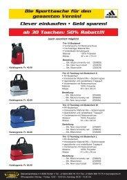 12 Taschen adidas - Taurus Sports
