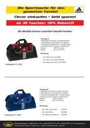 Taschen adidas.indd - TAURUS SPORTS Kloten