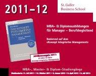 Diplomstudiengänge - St. Galler Business School
