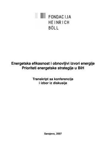 Energetska efikasnost i obnovljivi izvori energije Prioriteti ...
