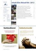 Rundbrief Elim aktuell Juni 2012 als PDF ansehen - Diakonische ... - Page 2