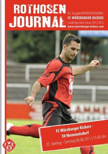 Download der Zeitung - FC Würzburger Kickers e.V.