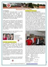 Newsletter vom 7.11.2011 - Tennis in Schwentinental