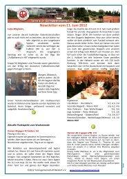 Newsletter vom 11. Juni 2012 - Tennis in Schwentinental