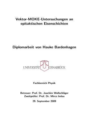 Vektor-MOKE-Untersuchungen an epitaktischen Eisenschichten