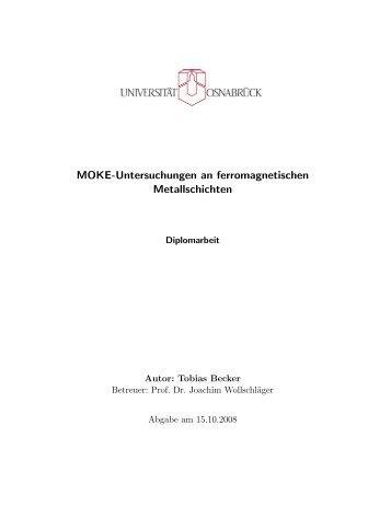 MOKE-Untersuchungen an ferromagnetischen Metallschichten