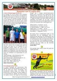 Newsletter vom 13. August 2012 - Tennis in Schwentinental
