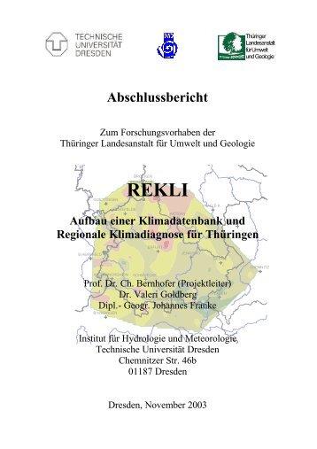 Teil I, 2003 - Thüringer Landesanstalt für Umwelt und Geologie
