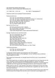Protokoll der Sitzung des Preigerichts vom 18.02.2008
