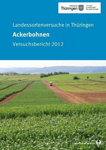 Landessortenversuche in Thüringen - Ackerbohnen ... - TLL