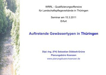 Auftretende Gewässertypen in Thüringen