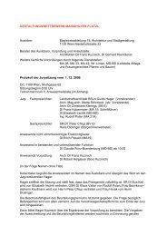 Protokoll der Sitzung des Preisgerichts vom 01.12.2006