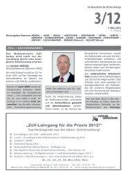 """""""Zoll-Lehrgang für die Praxis 2012!"""" - Kitzler Verlag"""