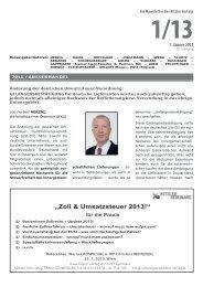 """""""Zoll & Umsatzsteuer 2013!"""" - Kitzler Verlag"""