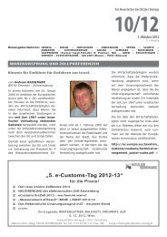 """5. e-Customs-Tag 2012-13"" - Kitzler Verlag"