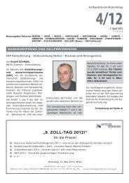 """9. ZOLL-TAG 2012!"" - Kitzler Verlag"