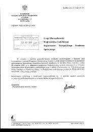 Urzqd Marszalkowski Woj ew6d ztw a Lub elskiego ... - BIP - Lublin