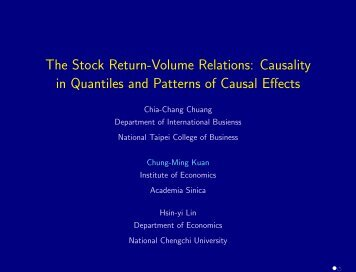 Granger Causality in Quantiles and the Stock Return