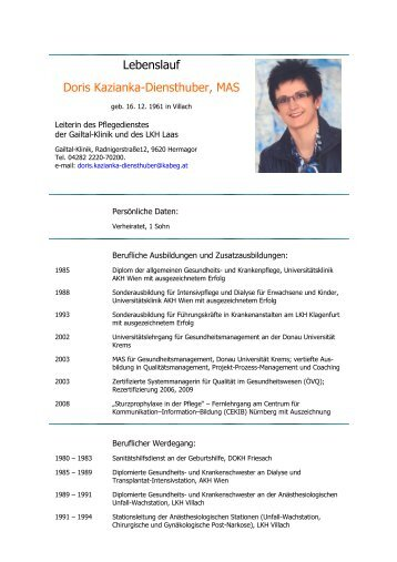 Doris Kazianka-Diensthuber, MAS - Ethikkommission des Landes ...