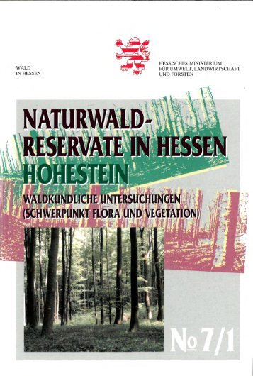 WALD IN HESSEN HESSISCHES MINISTERIUM FÜR UMWELT ...