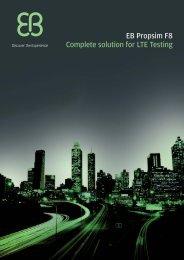 EB Propsim F8 Complete solution for LTE Testing - Gigacomp