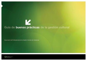 Guía de buenas prácticas de la gestión cultural