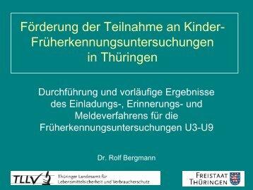 Dr. Rolf Bergmann - Förderung der Teilnahme an Kinder