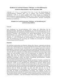 Richtlinie zur Durchführung der assistierten Reproduktion vom 29