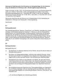 1 Satzung der Stadt Burg über die Erhebung von Umlagebeiträgen ...