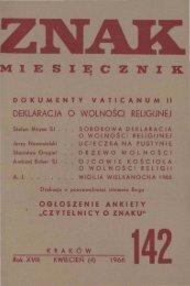 Nr 142, kwiecień 1966 - Znak