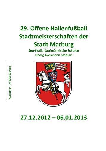 29. Offene Hallenfußball Stadtmeisterschaften der ... - FV Wehrda