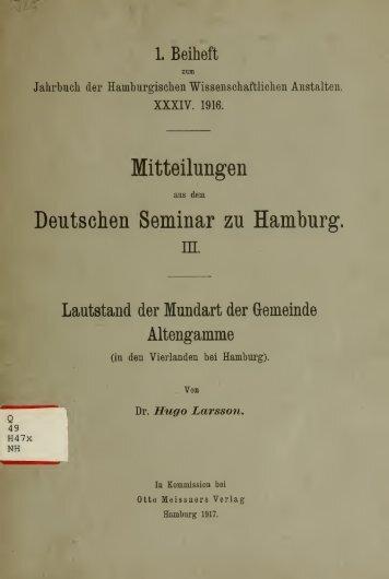 Jahrbuch der hamburgischen Wissenschaftlichen Anstalten