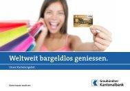 GKB Maestro-Karte. - Graubündner Kantonalbank
