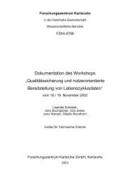 "Dokumentation des Workshops ""Qualitätssicherung"