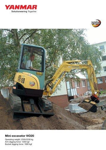 Mini-excavator ViO20 - Ammann Equipment