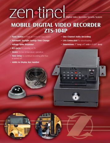 mobile digital video recorder zts-104p mobile digital video recorder ...