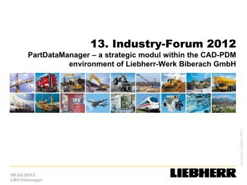 PartDataManager - CADENAS Industry-Forum