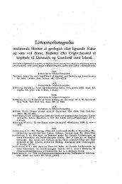 Litteraturfortegnelse for 1927—31 s. V - Dansk Geologisk Forening