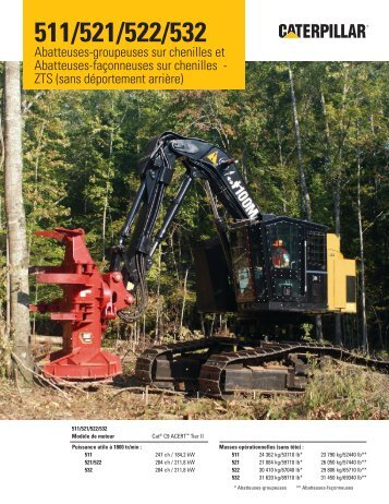CAT® 511/521/522/532 Spécifications - Forestry - Caterpillar Inc.