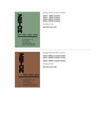 Katalog náhradních dílů na traktory - ATP Motor
