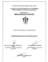 Investigación Cualitativa en Salud - Centro Universitario de los Altos ...