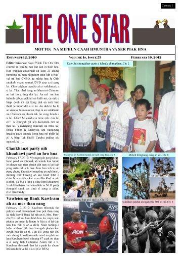 THE ONE STAR FEBRUARY. 19, 2012 tharbik.pub