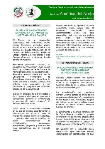 Noticias 6 de diciembre 2012 - Inicio