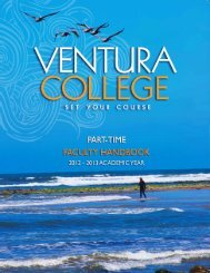 Handbook for Part-Time Faculty - Ventura College