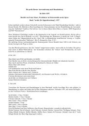 Die große Berner Auswanderung nach Brandenburg im Jahre 1691 ...