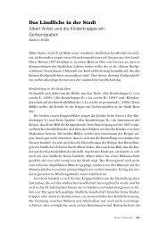 Das Ländliche in der Stadt - Berner Zeitschrift für Geschichte