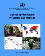 Cancer Epidemiology - International Agency for Research on Cancer