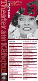 Spielplan (pdf) - Theater am Käfigturm