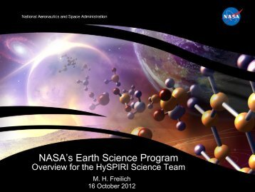 NASA's Earth Science Program